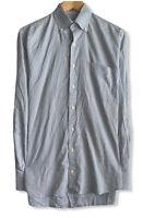 Peter Millar Crown Soft Men's Sz Medium Blue Check Button Down Shirt Cotton/Silk