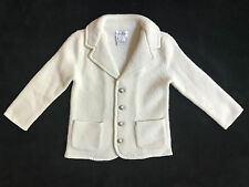 Ralph Lauren Ivory Cream Wool Cardigan Sweater Jacket Infant Baby 18 Months *NEW