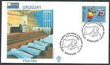 1988 VATICANO VIAGGI DEL PAPA URUGUAY FLORIDA - SV2