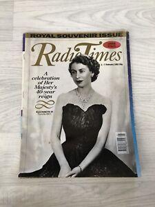 Radio Times February 1992 Queen Elizabeth Royal Souvenir Issue