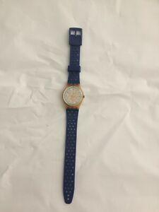 """Vintage 1989 Clear Swatch """"Pinkdrip"""" Women's Watch - Works"""