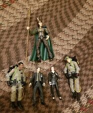 Action Figure Lot (5) McFarlane Toys X-Files, Diamond Select Ghostbusters, Loki