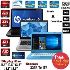 "Cheap HP Stream Pavilion 15.6"" Laptop Intel i3, i5 i7 8GB RAM 1TB Win 10 A Grade"