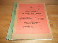 Spare Parts List Semi-Trailers Rubery Owen 1959 Army Vehicle Missile Dolly AA