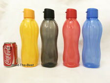 x4 H2O On The Go Eco Water Drink Bottle Sport Flip Top Cap 1.0L Tupperware
