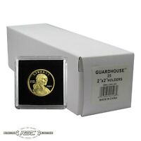 25 - Guardhouse 2x2 Tetra Plastic Snaplocks Coin Holders for Small Dollars