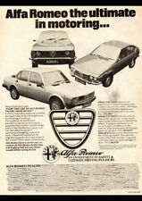 "1979 ALFA ROMEO ALFETTA GTV2000 AD A1 CANVAS PRINT POSTER FRAMED 33.1""x23.4"""