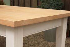 Esstisch Massivholz Landhaustisch Esszimmer Küche 250 cm M01 weiß natur Neu