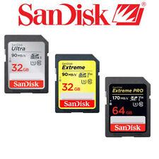 Sandisk SD SDHC SDXC Memory Cards Ultra, Extreme, Extreme Pro, 32GB, 64GB, 128GB