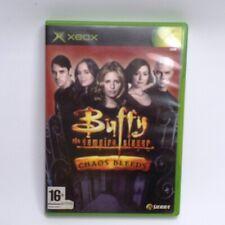 Buffy Vampire Slayer Chaos hemorragias Original Xbox Juego Rayado En Caja Inc UK P + P