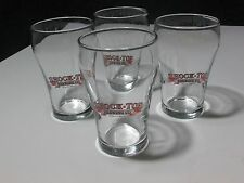 NEW 4 Shock Top Brewing Belgian Style Wheat Ale Mini Tulip Beer Glasses Craft