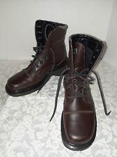 Dr. Marten's 9279 Army Combat Biker Boots Brown Leather DM's Womens Size 4