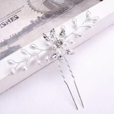 Fashion Bridal Hair Accessories Pearl Flower Hair Pin Stick Wedding Jewelry New