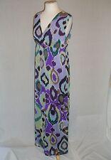 CHICO'S CHELSI Print Crinkle Chiffon Sleeveless MAXI Summer Dress - .5 / S - NWT