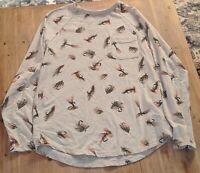 Volcom Women's ivory size small long sleeve fly fishing 🎣 flys shirt soft warm