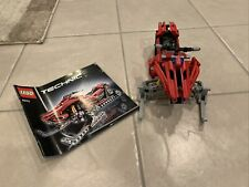 Lego technic number 8272 Red Snowmobile Put Together Pre Owned Manual Included