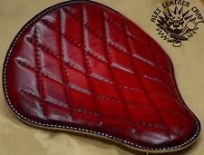 Bobber Solo Sitz Custom handgenäht Red L Chopper Harley Softail