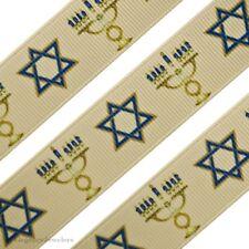 """7/8"""" Hanukkah Holiday Printed Grosgrain Ribbon"""