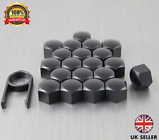 20 Car Bolts Alloy Wheel Nuts Covers 19mm Black For Audi Q7