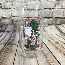 Holly Hobbie Coca Cola It's Time For Christmas Vintage 1977 Drinking Glass