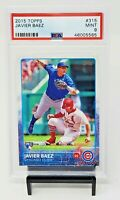 2015 Topps Chicago Cubs RC Star JAVIER BAEZ Rookie Baseball Card PSA 9 MINT