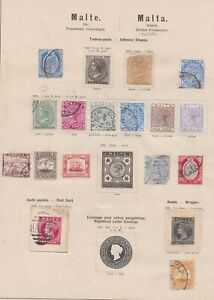 Lot:39569  Malta QV - EDVII  Stamps from 1874  Malta cover to UK 6d Lilac May 24