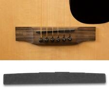 2x Ebony Acoustic Classical Guitar Parts Bridge Saddle and End Nut Accessory