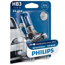 1x HB3 PHILIPS WhiteVision 9005 12V 65W P20d Car Headlamp Xenon effect 9005WHVB1