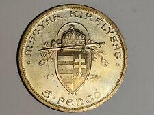 5 Pengö 1938 Silber Magyar Kiralysac TOP Erhaltung