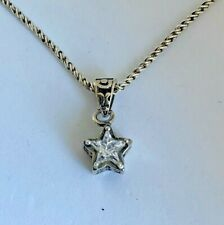 Silpada .925 Sterling Silver Cubic Zirconia Star Pendant Necklace N1413 15""
