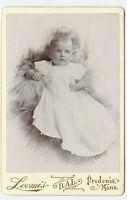 Cabinet Photo-Predonia, Kansas-Loomis Studio-POLSON Family Baby (Clyde) 1895