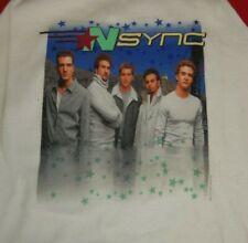 NSYNC Justin Timberlake - 2000 Baseball Jersey Tour Shirt Kids/Woman Large