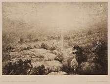 John Charles Robinson-Sun and Fog (Swanage Down) - Art 1890