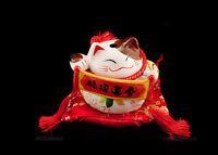 Hucha Gato Japonés Figura Amuleto de la Suerte Prosperidad Maneki Neko 330
