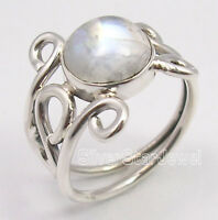 925 Pure Silver Exclusive RAINBOW MOONSTONE Gem URBAN STYLE Ring Any Size UK US