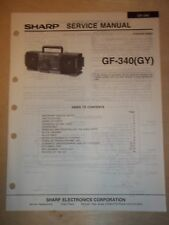 Sharp Service Manual~GF-340/340GY Radio/Boombox