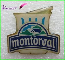 Pin's Pins badge Laitage Yaourth MONTORVAL avec une maison #227