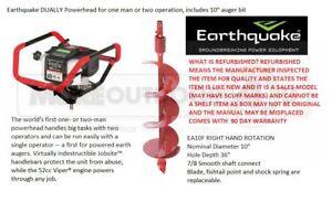 "10310 Ardisam Earthquake Dually 52cc Auger +10"" Post Hole Digger MFG REFURBISHED"