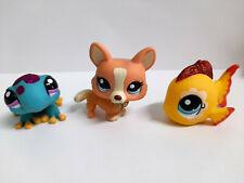 Littlest Pet Shop Glitzer Corgi #2290 Gecko #2289 Fisch #2283 Hasbro LPS