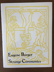 Strange Ceremonies   Eugene Burger   1st ed HC   Like NEW   *RARE*