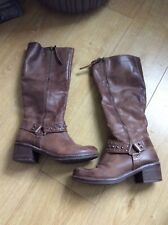 River island brown knee-high boots Size 5