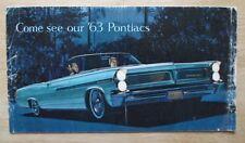 PONTIAC ORIG 1963 USA MKT la brochure commerciale-Bonneville Catalina Safari grand prix