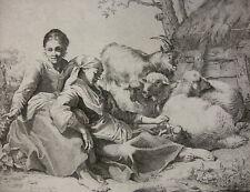 BENIGNO BOSSI ´PASTORALE LANDSCHAFT, RURAL LANDSCAPE, NACH F. LONDONIO` 1759