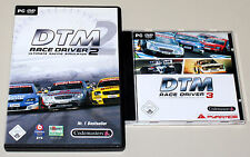 2 PC SPIELE BUNDLE - DTM RACE DRIVER 2 & 3 - ULTIMATE RACING SIMULATOR