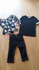 WOMENS BULK CLOTHES TEMT SIZE 6 & 8 INC BLACK DENIM 3/4 EXPOSED JEANS