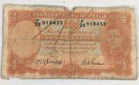 1940s Australia Banknote 10 Shillings Armitage McFarlane Legal Tender Currency