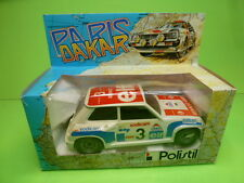 POLISTIL RENAULT 5 TURBO PARIS DAKAR No 3 ELF  - WHITE 1:24 - GOOD IN BOX