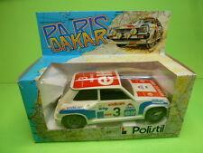 POLISTIL RENAULT 5 TURBO PARIS DAKAR No 3 ELF  - WHITE 1:24 - GOOD IN BOX