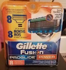 Authentic Gillette Fusion ProGlide Power Refill 8 Cartridges with Free Shipping