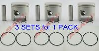 For YAMAHA Outboard Piston Kit (688-11631-03/6H1-11631-03 STD + Piston Ring) X3
